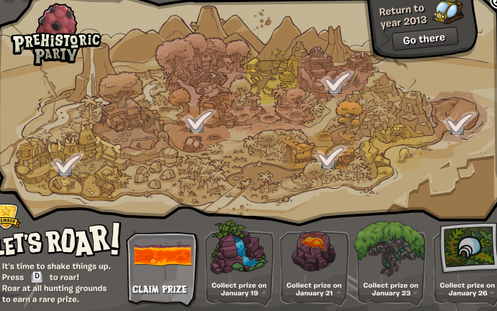 Your map should look like this as soon as you have ROARED around the island.