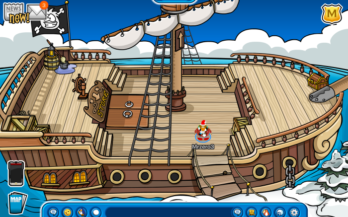 Access Rockhopper's ship!