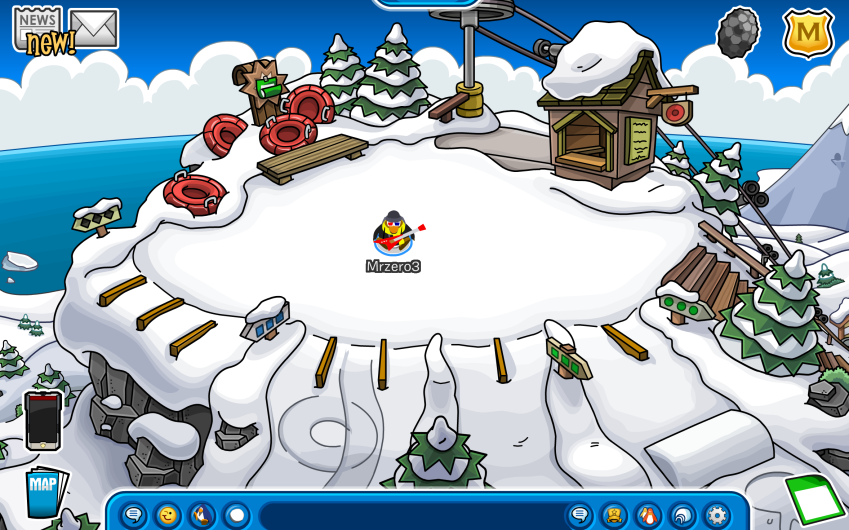 Club Penguin – Ski Hill and Forest Room Updates!