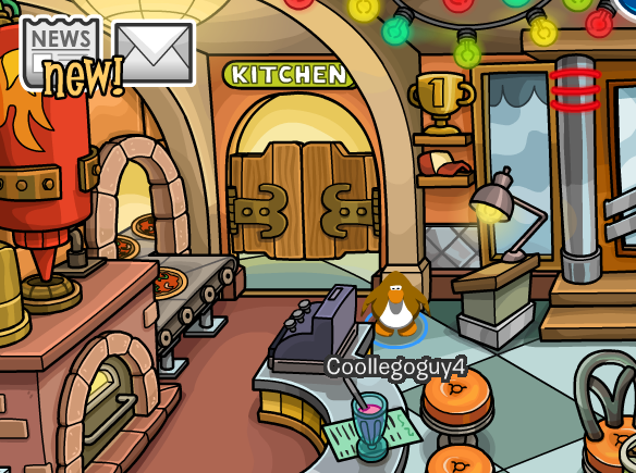 Pizza Parlor Kitchen pizzatron 3000 | club penguin reveals