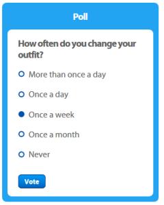 Club Penguin poll