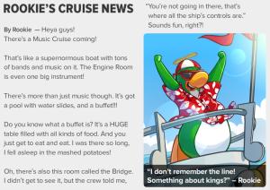 ROOKIE'S CRUISE NEWS