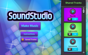 SoundStudio welcome screen
