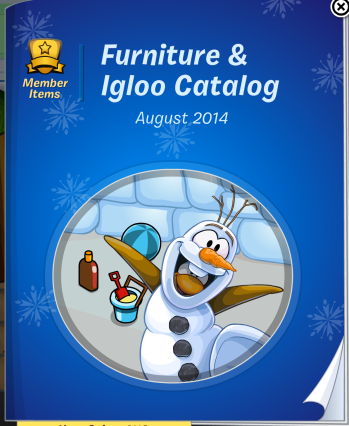 The front cover of the August 2014 Furniture and Igloo Catalogue