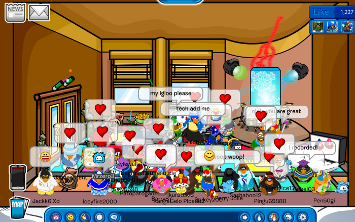 After-party at Ninjaoninja2's igloo