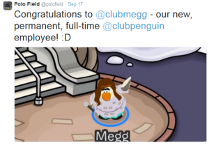 Megg is now an employee!