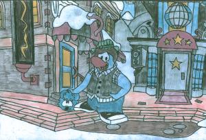 Penguin 43 Drawing (Original)