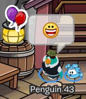 Club Penguin Anniversary Balloons Pin