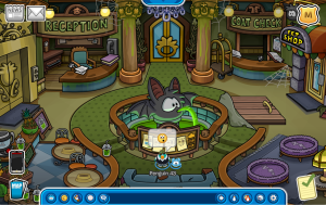 Halloween Party 2014 Preparation-The Puffle Hotel Lobby