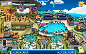 Halloween Party 2014 Preparation-The Puffle Hotel Rooftop