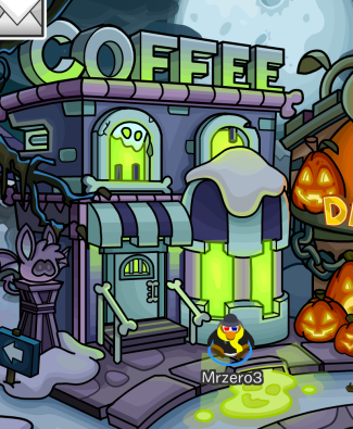Head to the Club Penguin Town, and visit the Coffee Shop