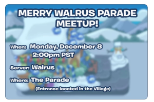 Club Penguin Merry Walrus Parade Meetup-Invitation