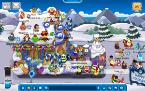 Club Penguin Merry Walrus Parade Meetup-Waiting