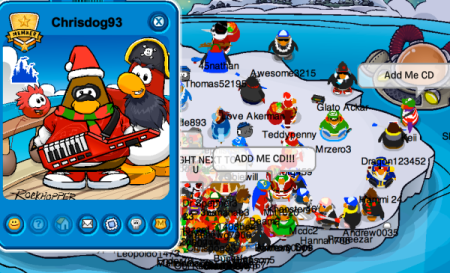 Click here to view my FIRST-EVER Club Penguin post!