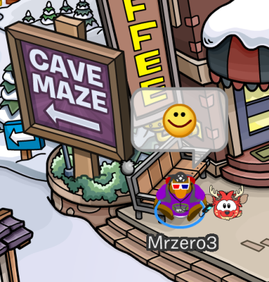 The Cave Maze Sign at the Town