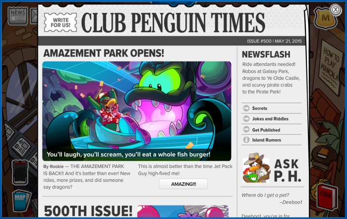 Club Penguin Times-Issue 500