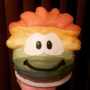 Megg's Rainbow Puffle Cake