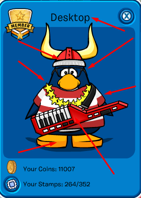 My outfit on Club Penguin.