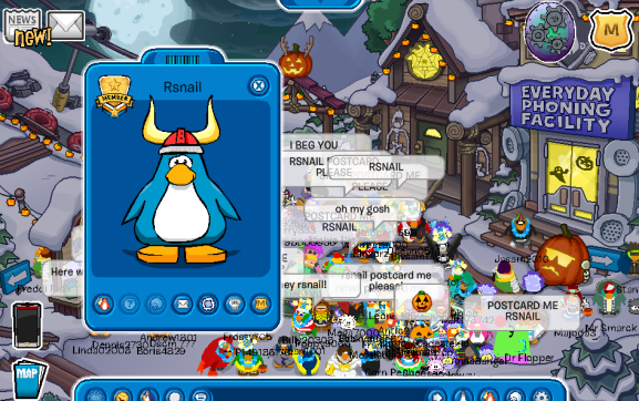 Rocket Snail, one of the original founders of Club Penguin! : O